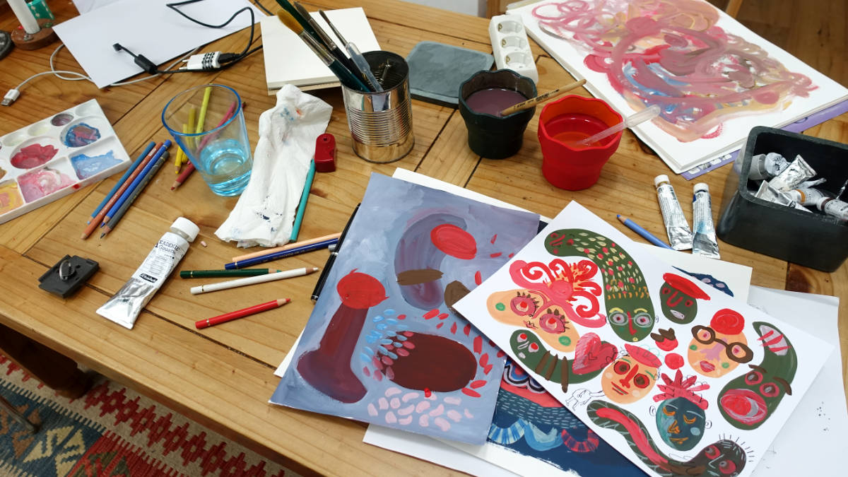 Intuitive Painting Session - Workspace
